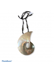 SHELL NECKLACE NAUTILOUS PEARL XL