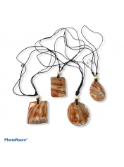 SHELL NECKLACE RED ABALONE