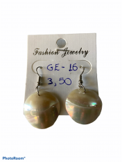 SHELL EARRING ΝAUTILUS PEARL